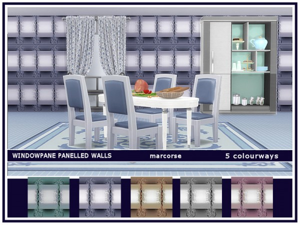 The Sims Resource: Windowpane Panelled Walls by marcorse