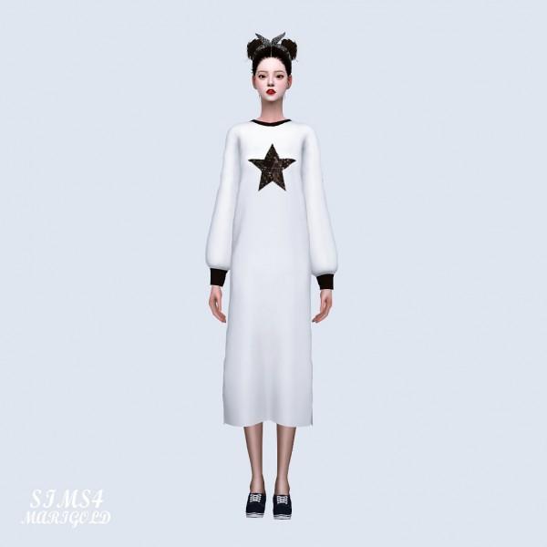 SIMS4 Marigold: Long T shirt Dress