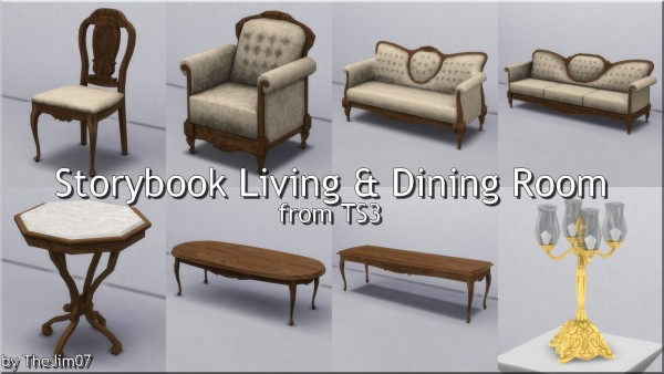 Mod The Sims: Storybook Living and Dining Room by TheJim07