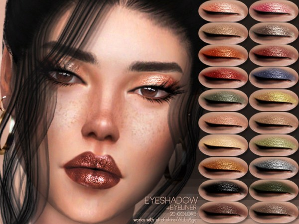 The Sims Resource: Eyeshadow and Eyeliner BS06  by busra tr