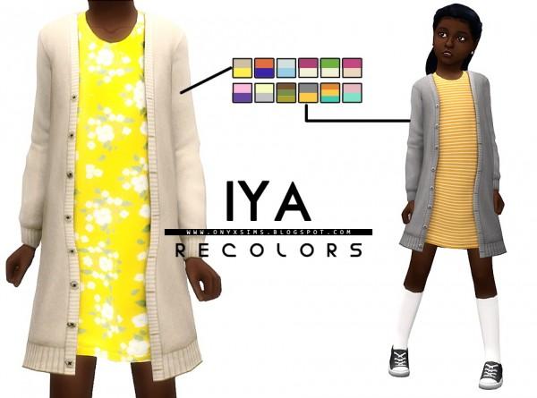 Onyx Sims: Iya Sweater Dress Recolors