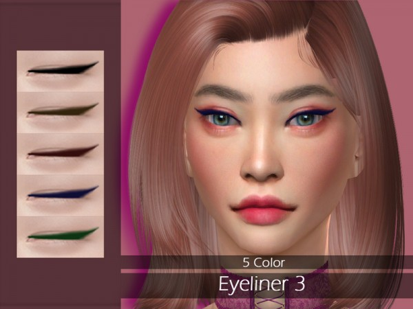 The Sims Resource: Eyeliner 3 by Lisaminicatsims