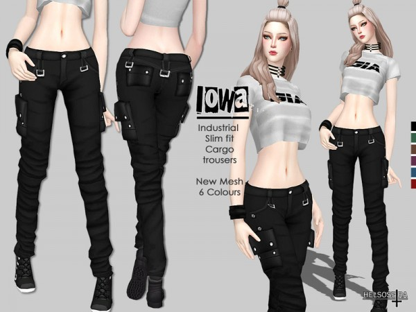The Sims Resource: IOWA   Slim fit Trousers by Helsoseira