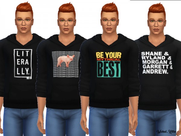 The Sims Resource: Cool Hoodies by Wicked Kittie