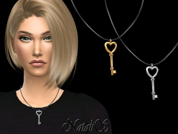 The Sims Resource: Key to my heart pendant by NataliS
