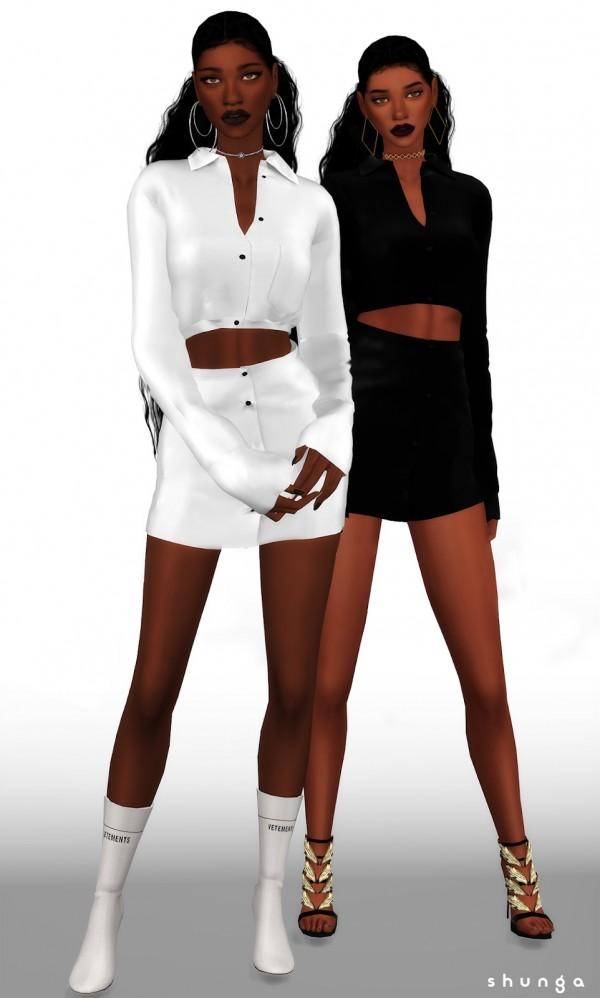 Shunga: Matte Shirt and skirt