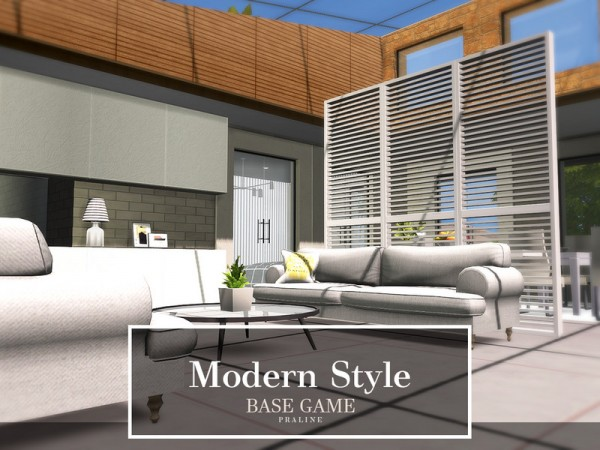 The Sims Resource: Modern Style Home by Pralinesims