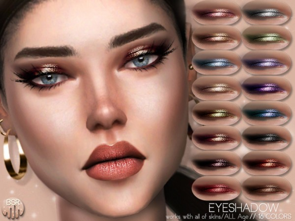 The Sims Resource: Realistic Eyeshadow BS04 by busra tr