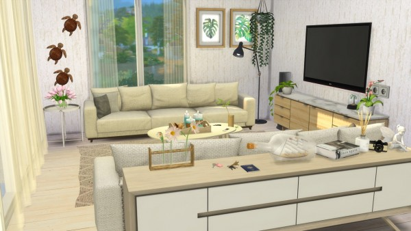 Models Sims 4: Livingroom   Beach House