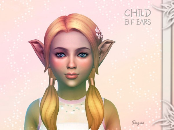 The Sims Models: Child Elf Ears by Suzue