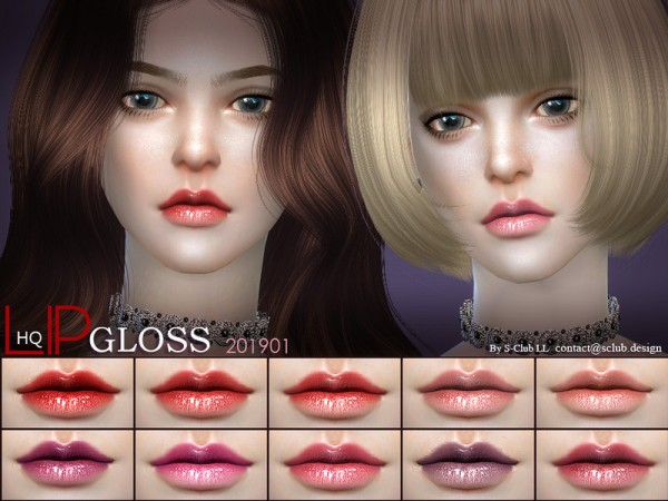The Sims Resource: Lipstick 201901 by S Club