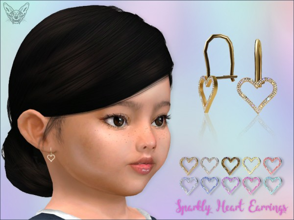 Giulietta Sims: Sparkly Heart Earrings For Toddlers