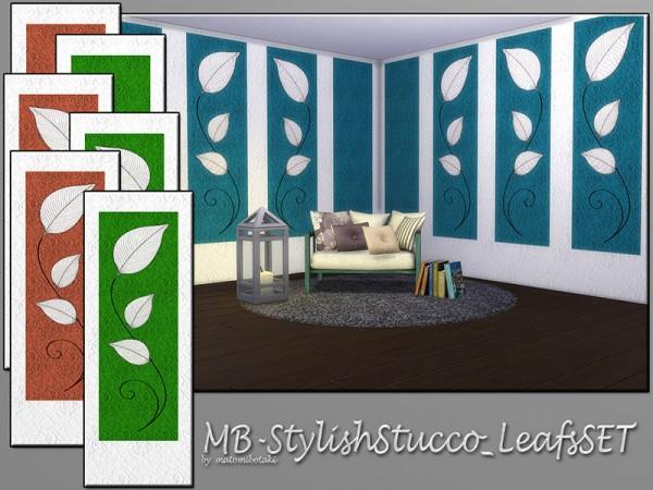 The Sims Resource: Stylish Stucco Leafs set by matomibotaki