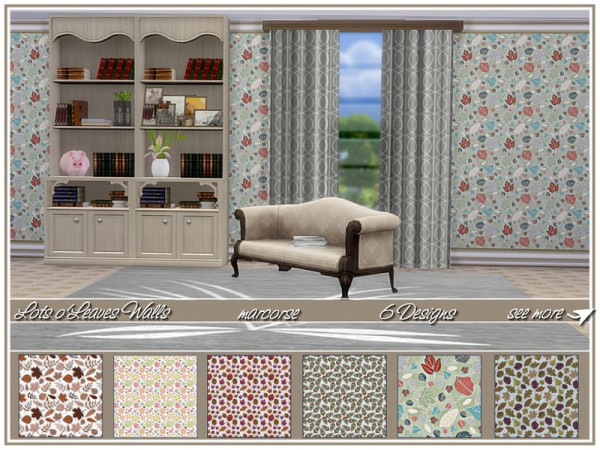 The Sims Resource: Lots oLeaves Walls by marcorse
