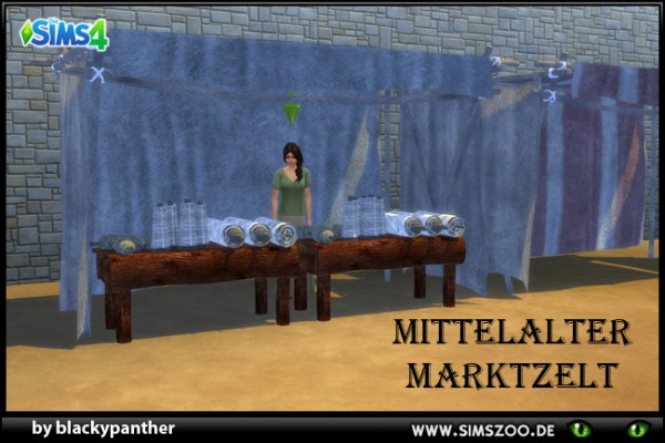 Blackys Sims 4 Zoo: Middle old market    Tent by blackypanther