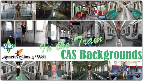 Annett`s Sims 4 Welt: CAS Backgrounds In the Train