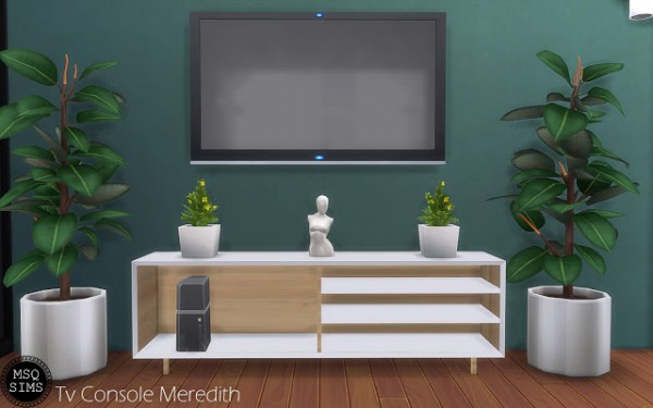 MSQ Sims: Tv Console Meredith