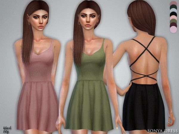 The Sims Resource: Sonya Dress by Black Lily