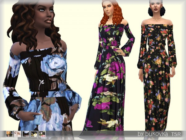 The Sims Resource: Dress Flowers by bukovka
