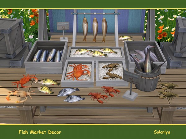 The Sims Resource: Fish Market Decor by soloriya