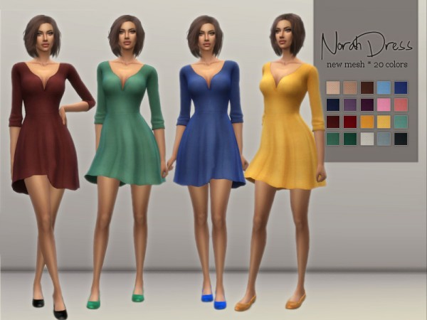 The Sims Resource: Norah Dress by Sifix