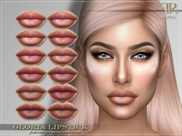 The Sims Resource: Gloria Lipstick by FashionRoyaltySims