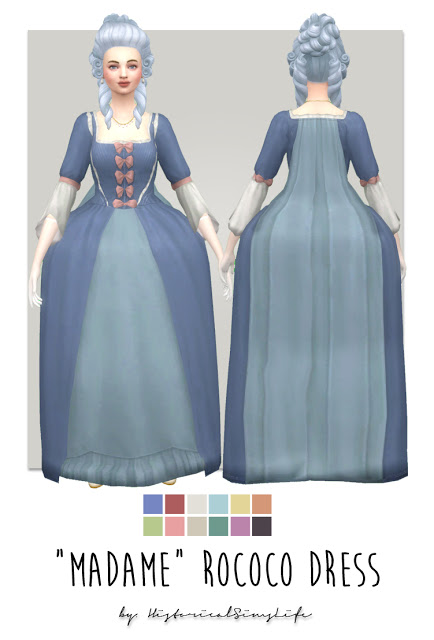 History Lovers Sims Blog: Madame rococo dress