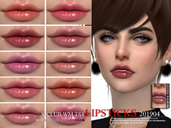 The Sims Resource: Lipstick 201904 by S Club