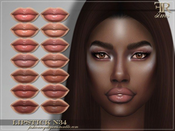 The Sims Resource: Lipstick N34 by FashionRoyaltySims