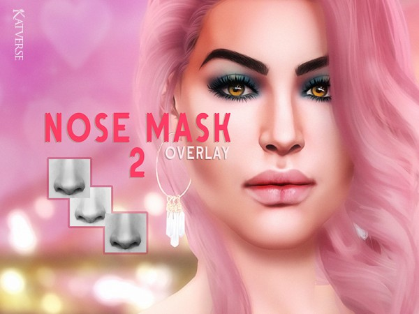 The Sims Resource: Nose mask 02 Overlay by KatVerseCC