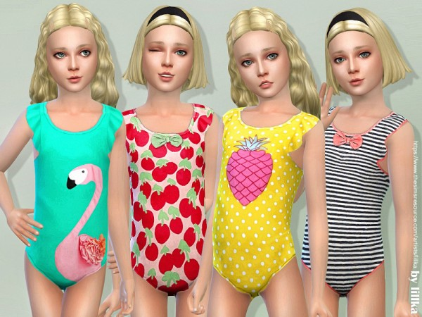 The Sims Resource: Swimsuit for Girls by lillka