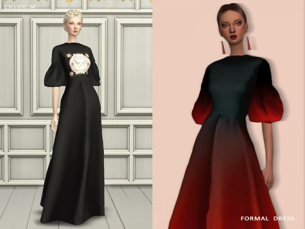 The Sims Resource: Formal Dress 2 by ChloeMMM