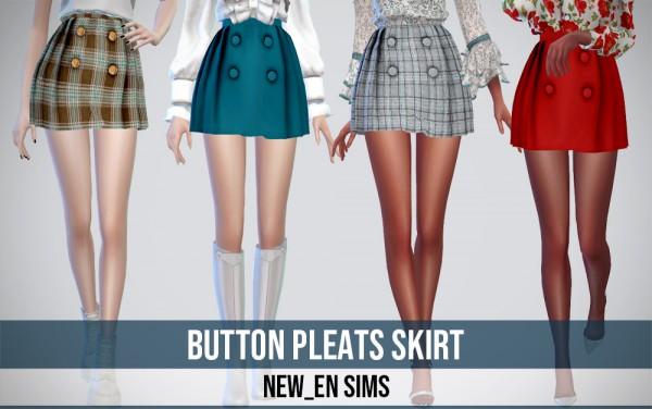 Newen: Button Pleats Skirt