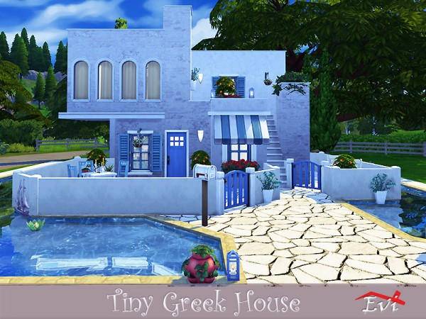 The Sims Resource: Tiny Greek house by evi