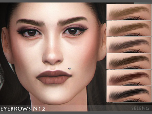 The Sims Resource: Eyebrows N12 by Seleng