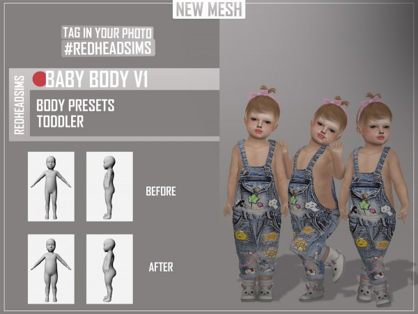 Red Head Sims: Baby Body Preset