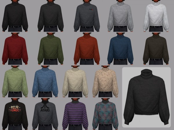 The Sims Resource: February   male sweater by WistfulCastle