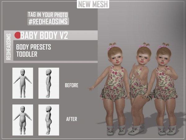 Red Head Sims Baby Body Preset Sims 4 Downloads