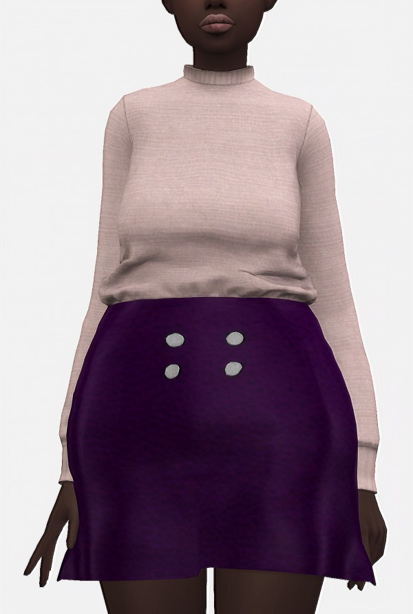 Nyuska: Jumper and Leather skirt
