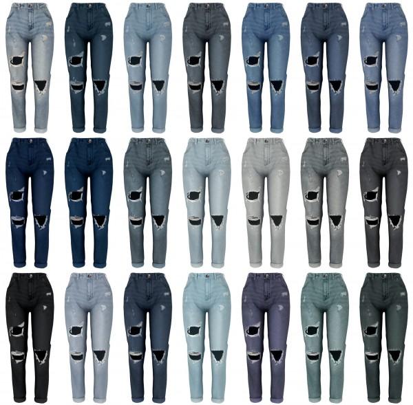 Lazyeyelids: Ripped boyfriend jeans