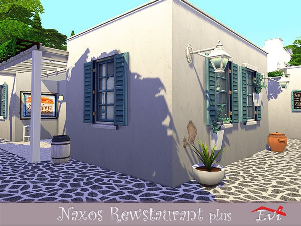 The Sims Resource: Naxos Greek restaurant by evi