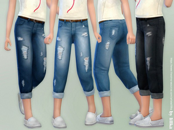 The Sims Resource: Casual Jeans for Children by lillka