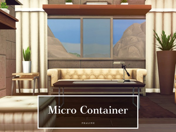 The Sims Resource: Micro Container house by Pralinesims
