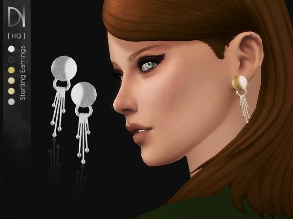 The Sims Resource: Sterling Earrings by DarkNighTt