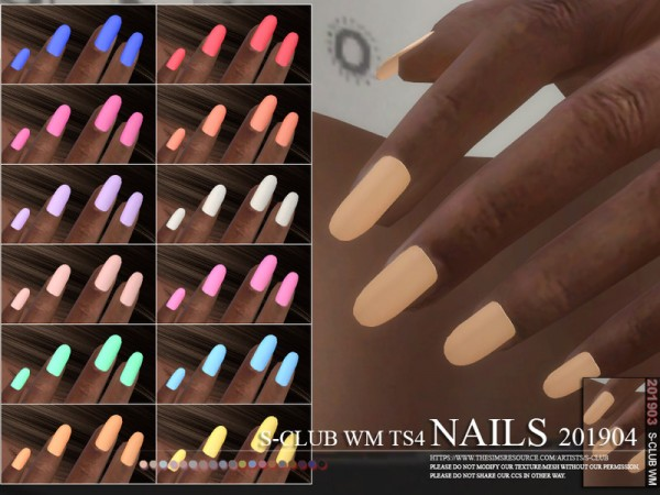 The Sims Resource: Nails 201904 by S Club