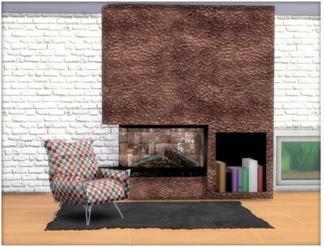 All4Sims: Modern Fireplace
