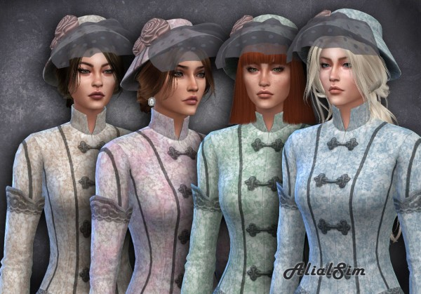 Alial Sim: Victorian Lace Dress and hat