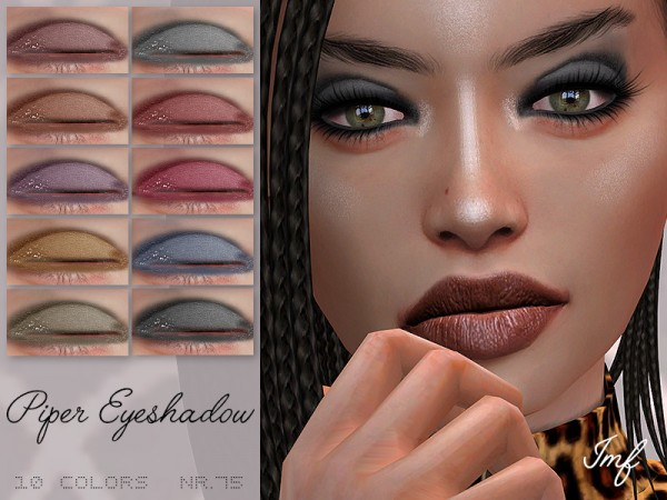 The Sims Resource: Piper Eyeshadow N.75 by IzzieMcFire