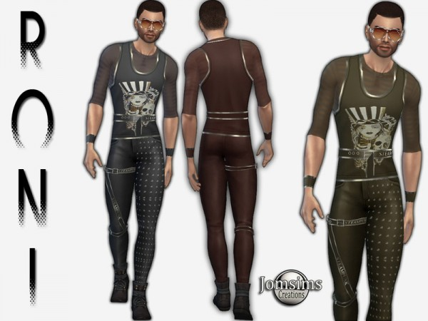 The Sims Resource: Roni steampunk outfit by jomsims