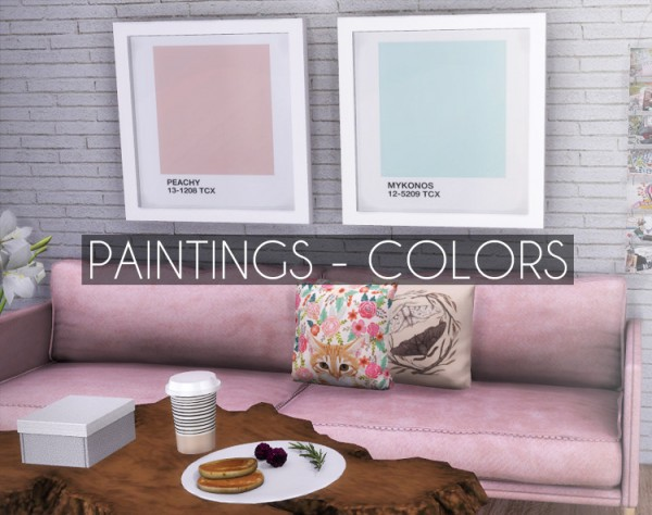Descargas Sims: Paintings   Colors